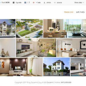 Thiết kế web nội thất mẫu 1