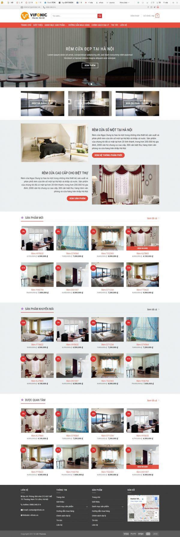 Thiết kế web nội thất mẫu 2