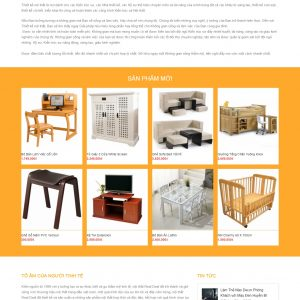 Thiết kế web nội thất mẫu 3