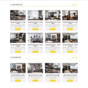 Thiết kế web nội thất mẫu 4