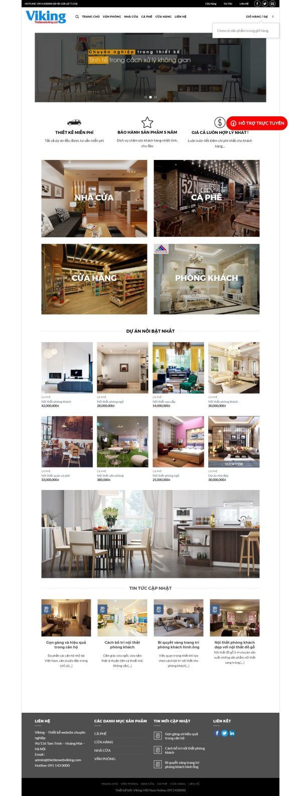 Thiết kế web nội thất mẫu 5