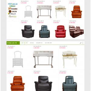 Thiết kế web nội thất mẫu 6