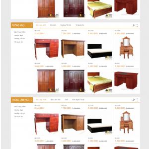 Thiết kế web nội thất mẫu 10