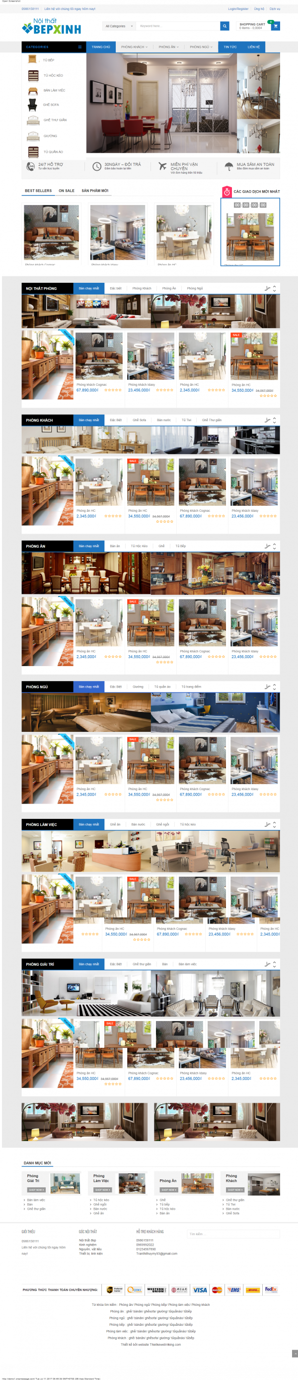 Thiết kế web nội thất mẫu 11