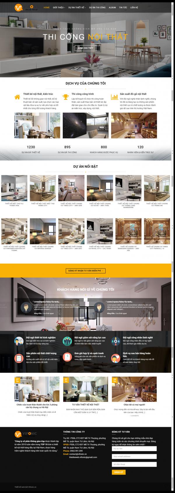 Thiết kế web nội thất mẫu 12