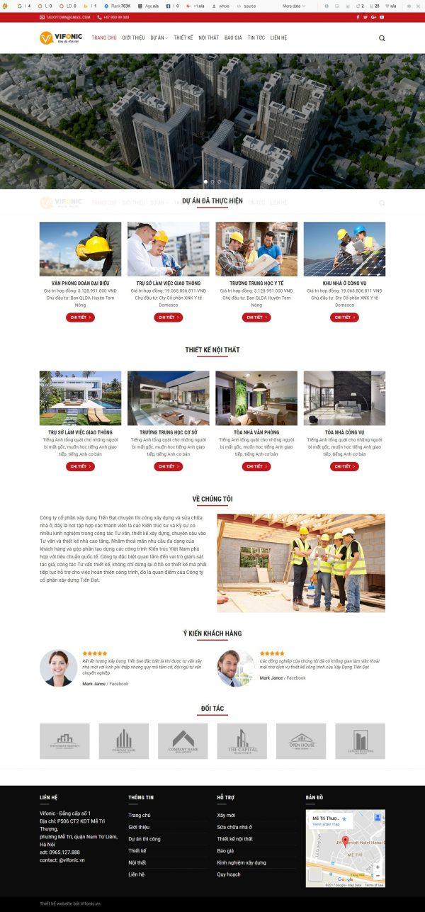 Thiết kế web bất động sản mẫu 1