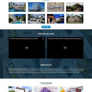 Thiết kế web bất động sản mẫu 3