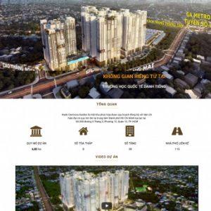 Thiết kế web bất động sản mẫu 5