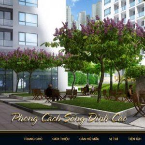 Thiết kế web bất động sản mẫu 8