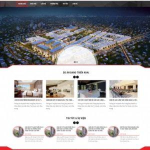 Thiết kế web bất động sản mẫu 9