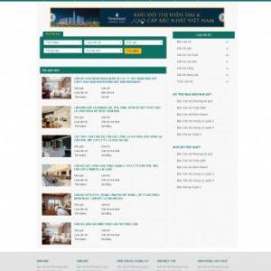 Thiết kế web bất động sản mẫu 11