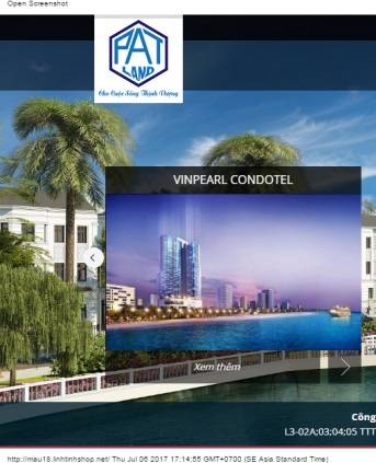 Thiết kế web bất động sản mẫu 14