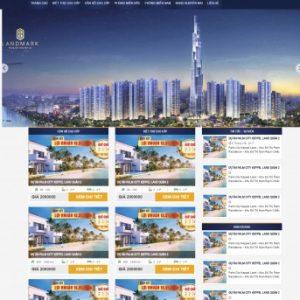 Thiết kế web bất động sản mẫu 16