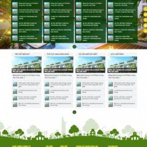 Thiết kế web bất động sản mẫu 17