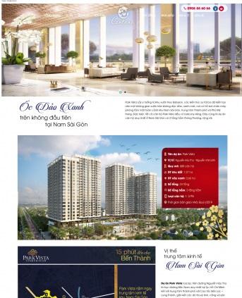 Thiết kế web bất động sản mẫu 18