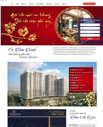 Thiết kế web bất động sản mẫu 19