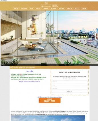 Thiết kế web bất động sản mẫu 20