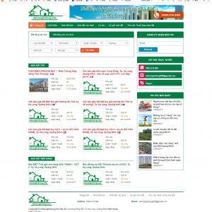 Thiết kế web bất động sản mẫu 4