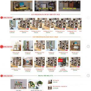 Thiết kế web bán hàng mẫu 2