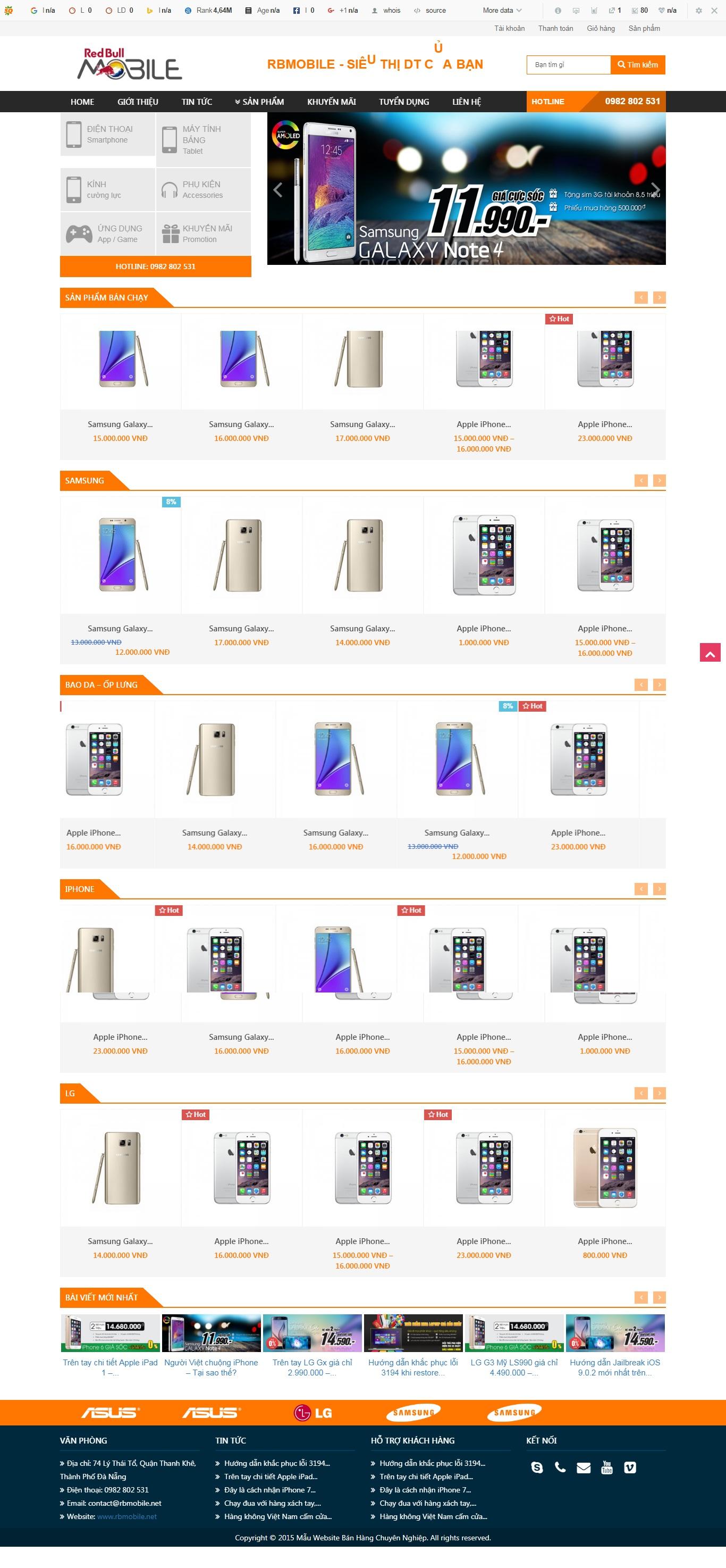 Thiết kế web bán hàng mẫu 5