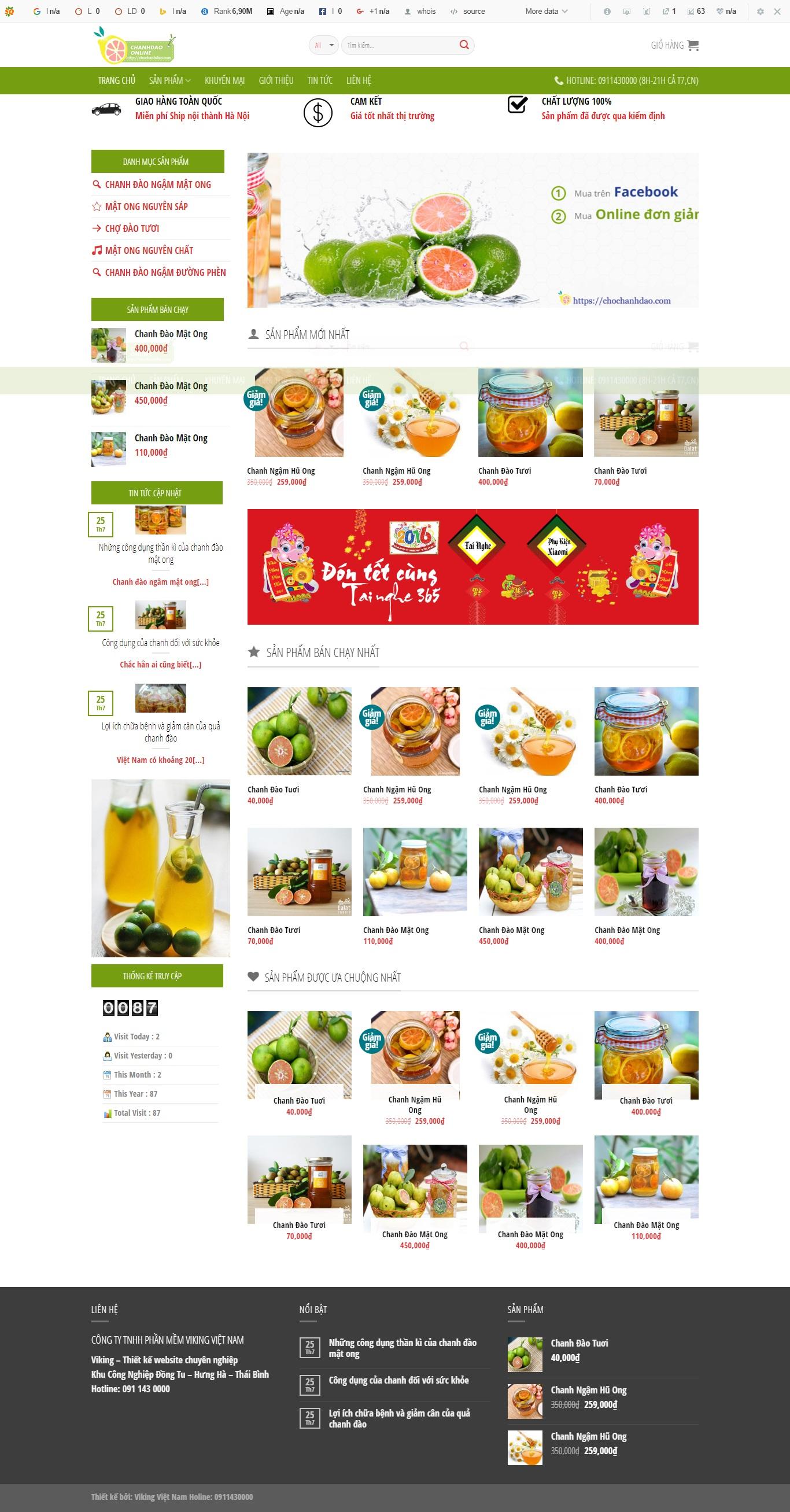 Thiết kế web bán hàng mẫu 7