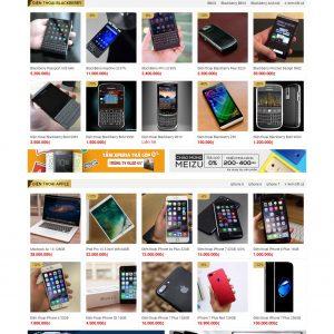 Thiết kế web bán hàng mẫu 9