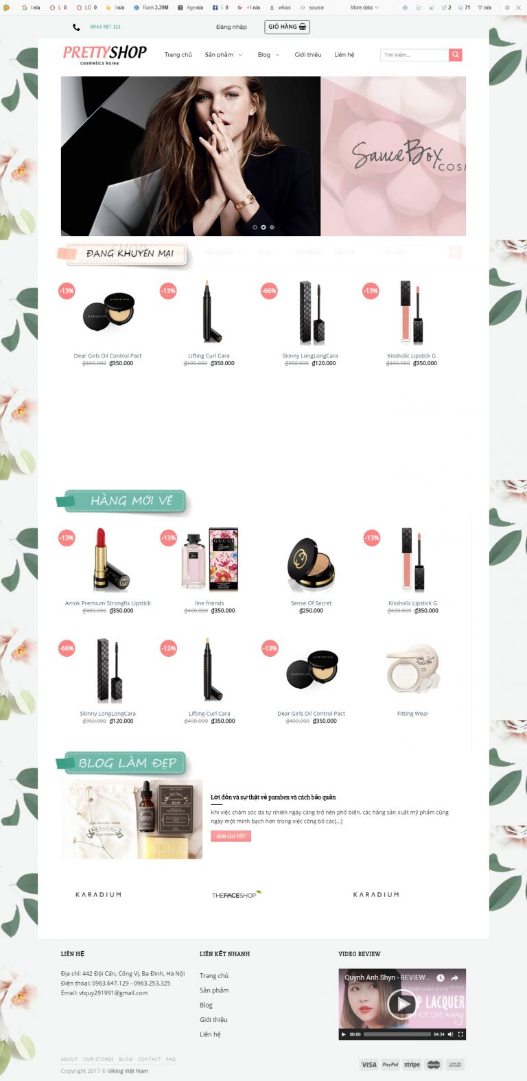 Thiết kế web bán hàng mẫu 11