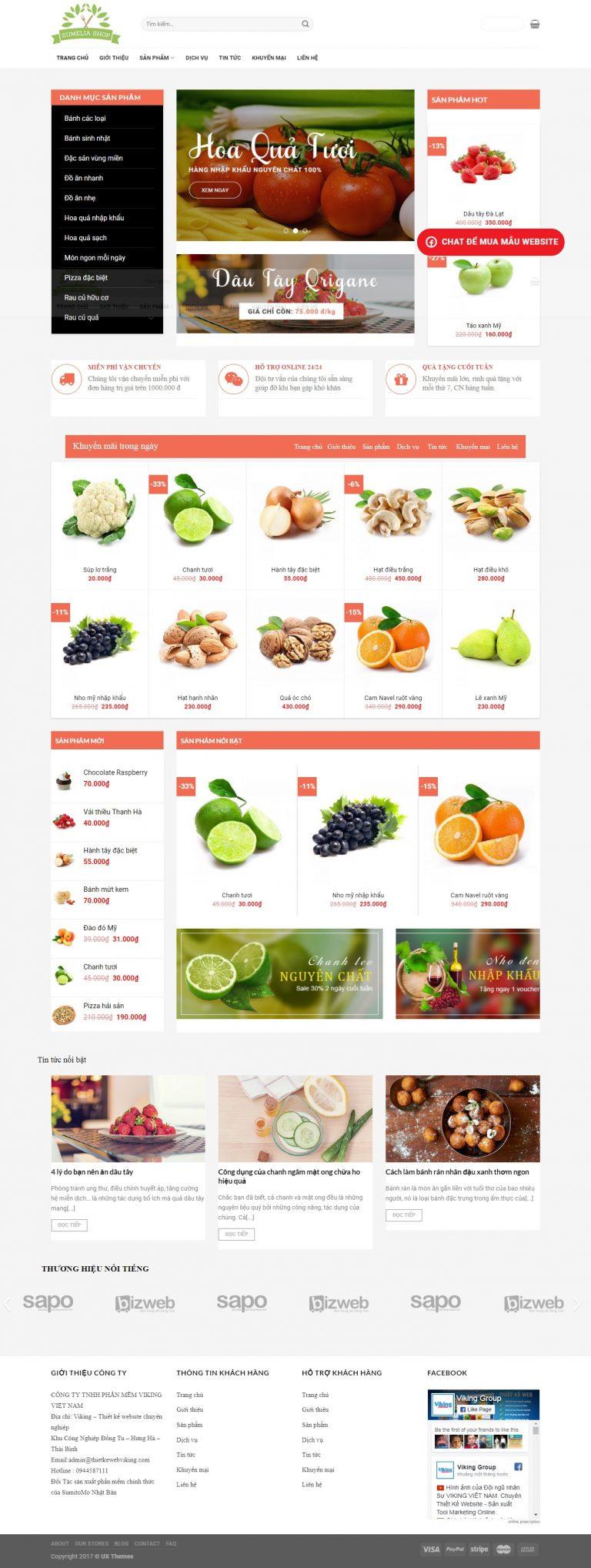 Thiết kế web bán hàng mẫu 15