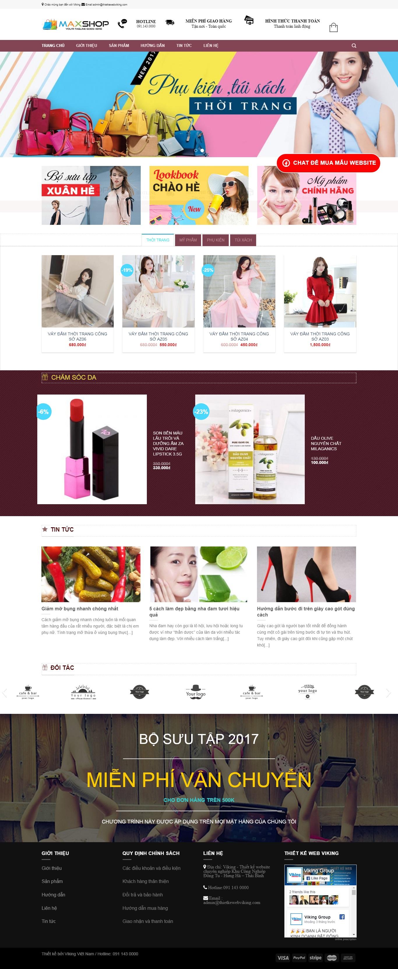 Thiết kế web bán hàng mẫu 21