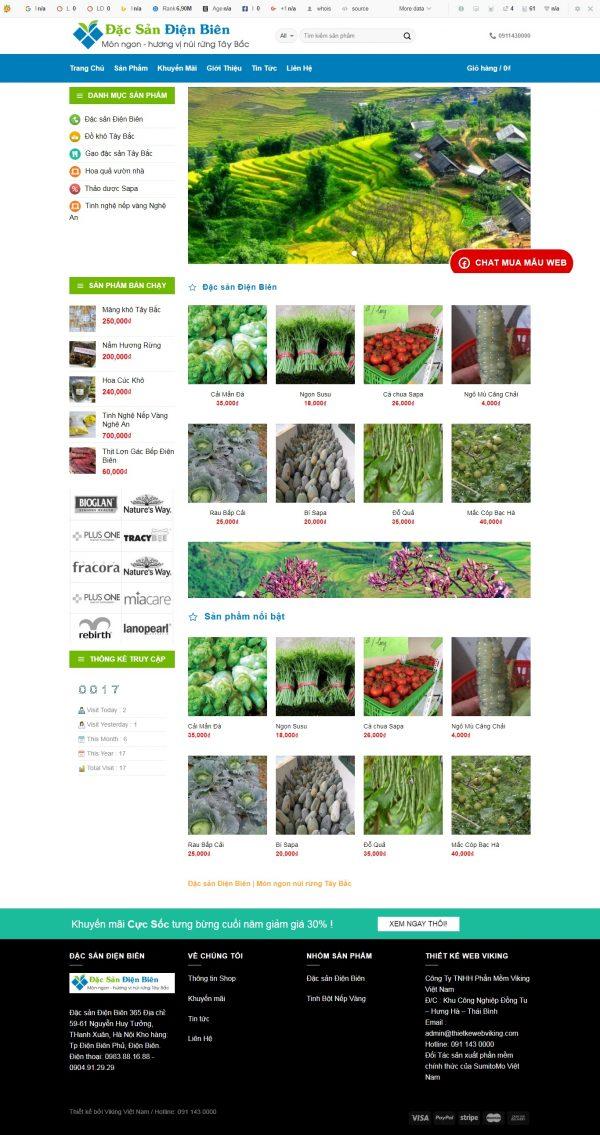 Thiết kế web bán hàng mẫu 25