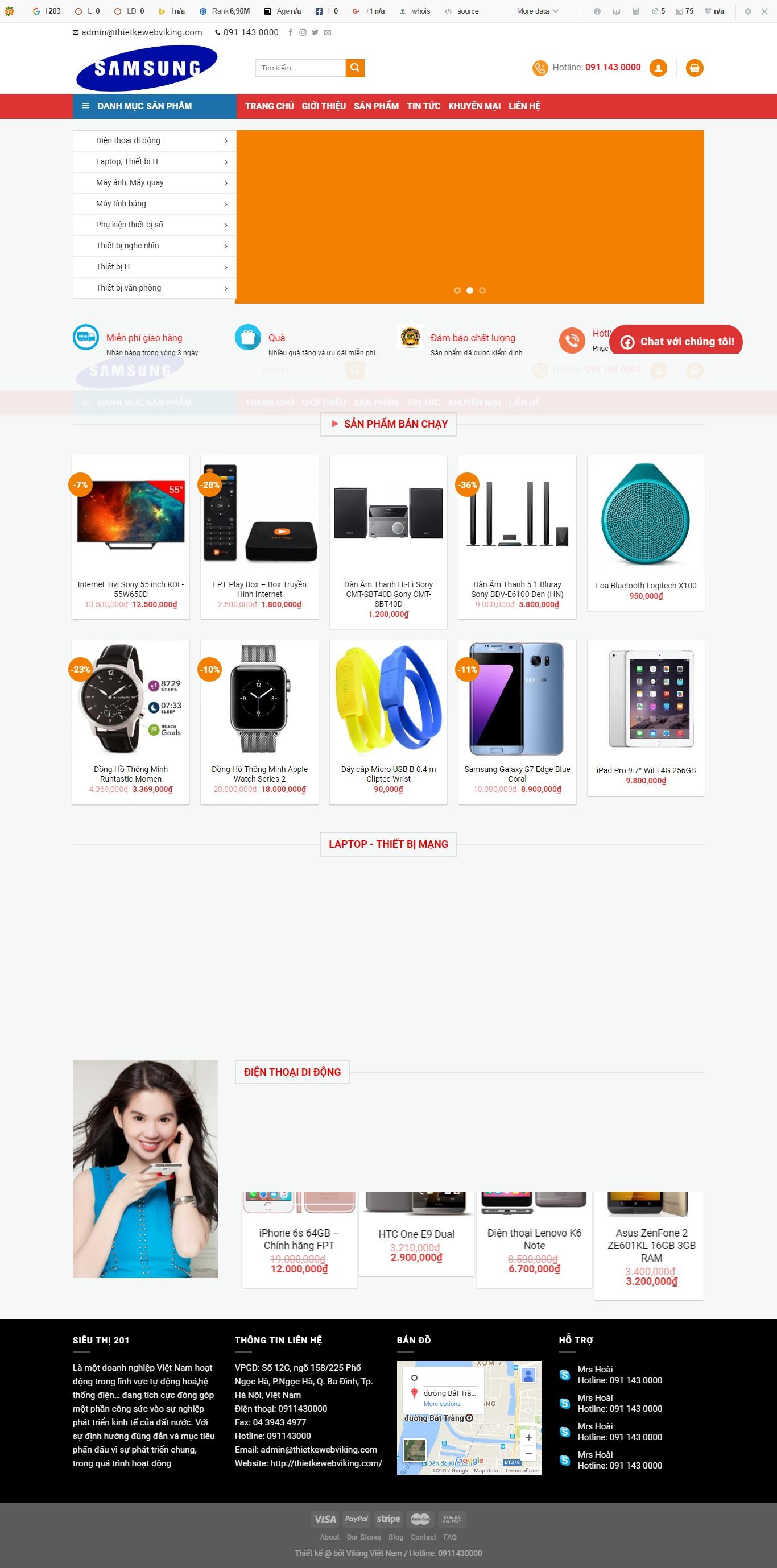 Thiết kế web bán hàng mẫu 81