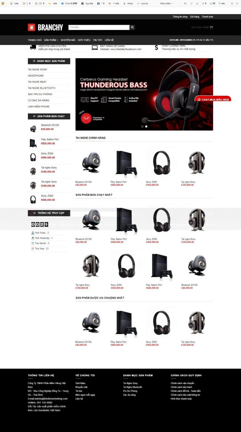 Thiết kế web bán hàng mẫu 82