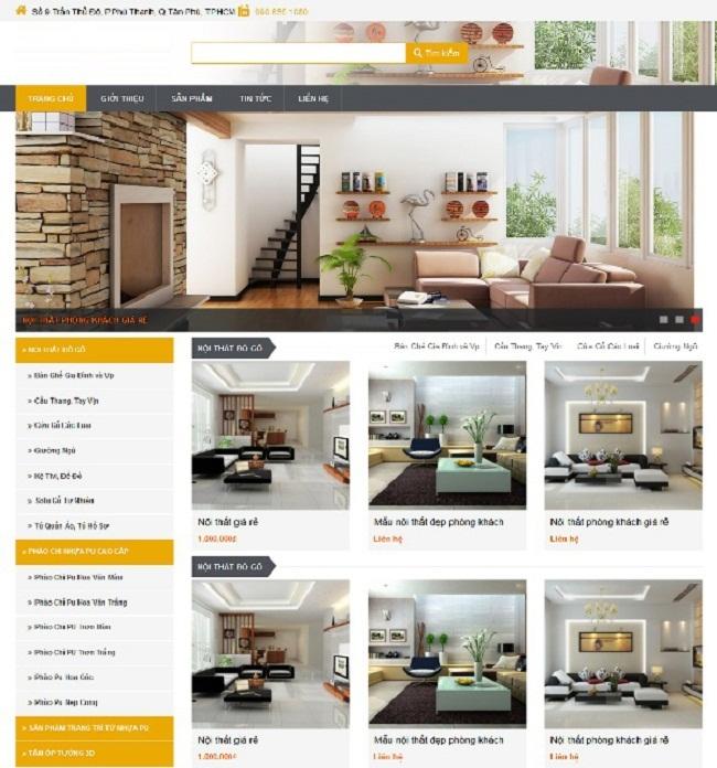 thiết kế web bán đồ gỗ nội thất sàn gỗ