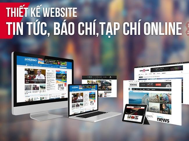 thiết kế web tin tức tạp chí online chuẩn SEO chuyên nghiệp