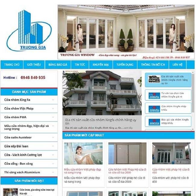 thiết kế web bán cửa cuốn cửa nhôm cao cấp chuyên nghiệp tại TpHCM