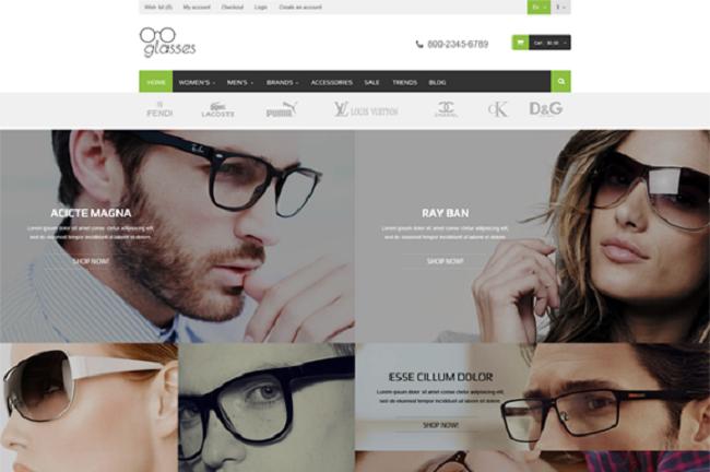 thiết kế web bán mắt kính chuyên nghiệp chuẩn seo uy tín giá rẻ