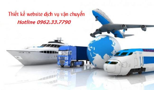 thiết kế web dịch vụ vận tải chuẩn Seo uy tín chuyên nghiệp