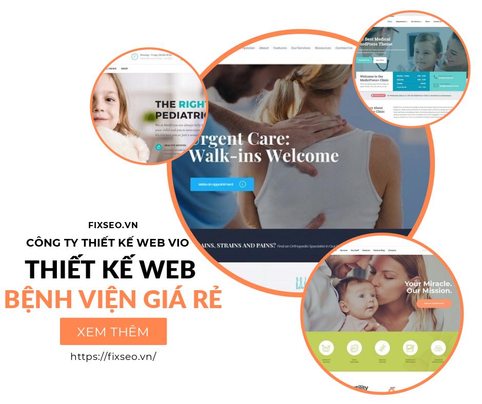 10 mẫu thiết kế web bệnh viện phòng khám tư nhân chuyên nghiệp