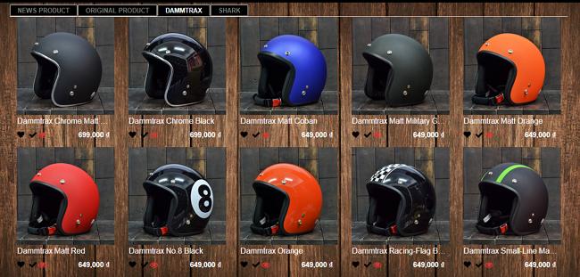 Thiết kế web bán mũ bảo hiểm chuẩn SEO Google giá rẻ