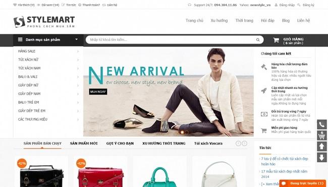 Thiết kế web thời trang chuyên nghiệp chuẩn Seo giá rẻ